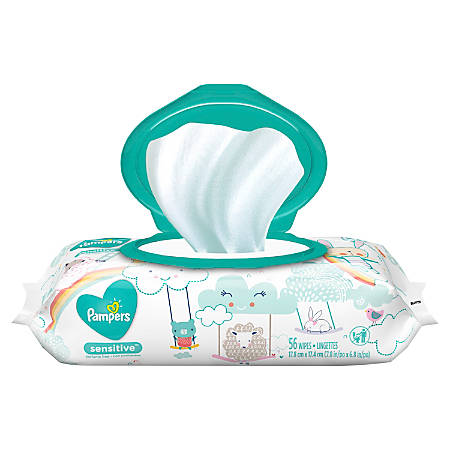 Pampers® Sensitive Baby Wipes, Pack of 56 Wipes