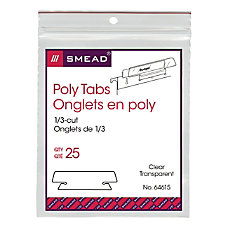 Smead Clear Hanging Poly Tabs 3