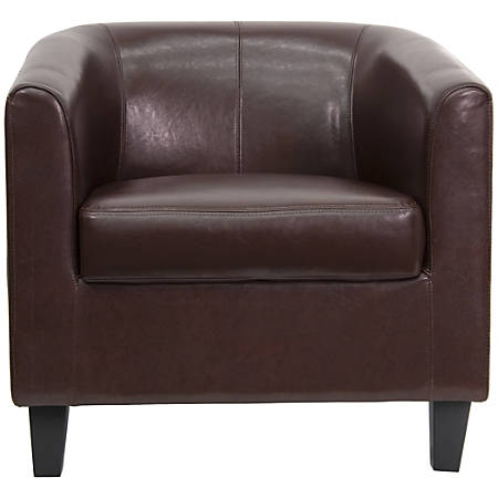Flash Furniture Leather Office Guest/Reception Chair, Brown