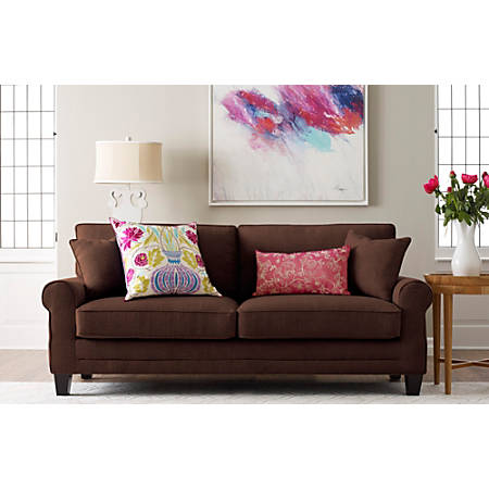 "Serta Copenhagen Deep-Seating Sofa, 78"", Brown/Espresso"