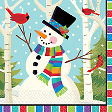 Amscan Christmas Smiling Snowman 2 Ply