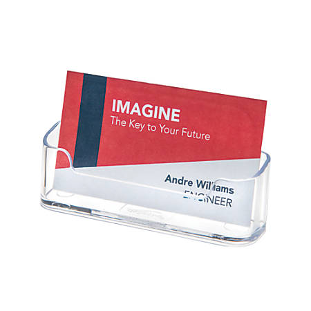 Business card holders at office depot officemax deflect o single compartment business card reheart