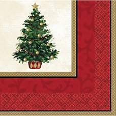 Amscan Classic Christmas Tree Dinner Napkins