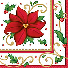Amscan Christmas Winter Botanical 2 Ply