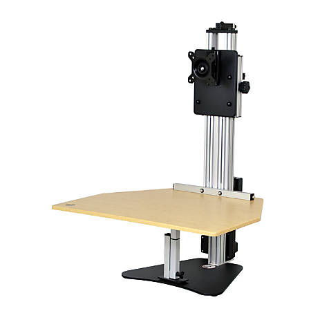 """Ergo Desktop Electric Kangaroo Pro Stand, 27 1/2""""H x 28""""W x 28""""D, Maple, Standard Delivery"""