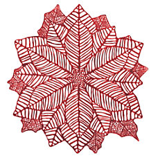 Amscan Christmas Poinsettia Place Mats 17