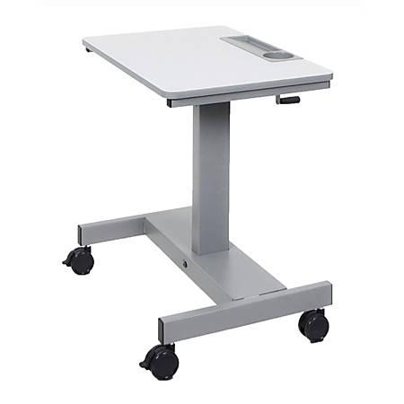 Luxor Crank Adjustable Sit/Stand Student Desk, White