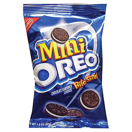 Nabisco® Bite-Size Oreo® Cookies, 1.75 Oz Bag, Case Of 60