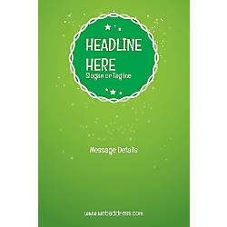 Adhesive Sign Green Background Vertical