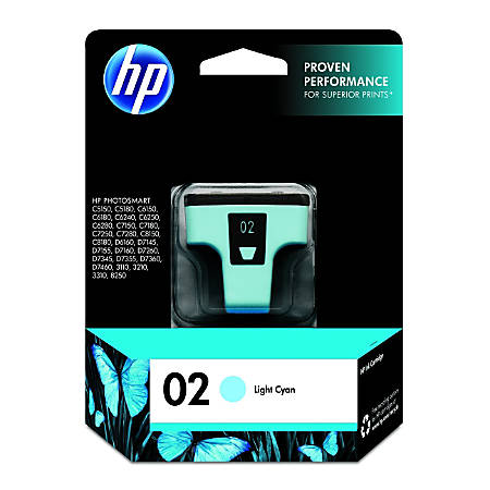 HP 02, Light Cyan Original Ink Cartridge (C8774WN)