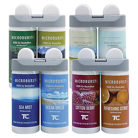 Rubbermaid® Microburst® Duet Refills, Variety Carton Of 4