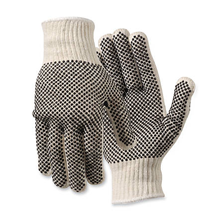 North Safety Poly/Cotton Gloves, Large, White, 1 Pair