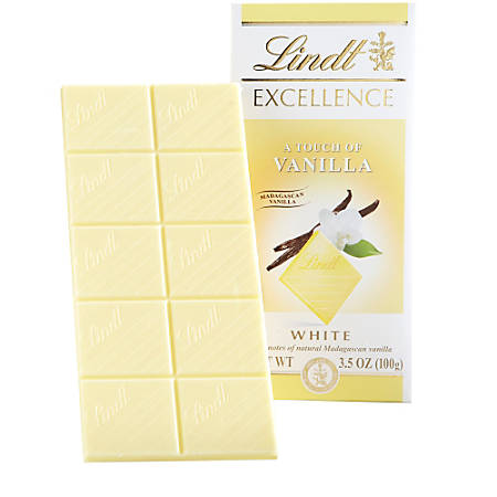 Lindt Excellence Chocolate, White Coconut Chocolate Bars, 3.5 Oz, Box Of 12