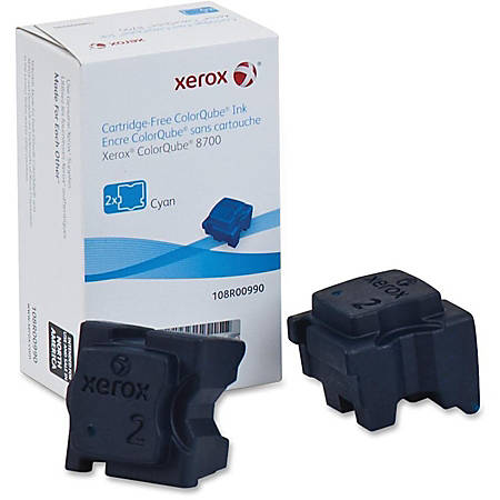 Xerox ColorQube 8700 - 2-pack - cyan - solid inks - for ColorQube 8700, 8700/SM, 8700/XM, 8700_AS, 8700S, 8700X, 8700XF