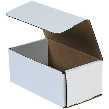 """Office Depot® Brand 8"""" Corrugated Mailers, 5""""H x 6""""W x 9""""D, White, Pack Of 50"""