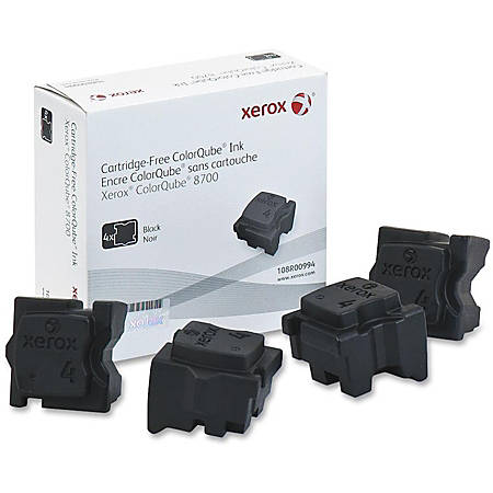 Xerox Solid Ink Stick - Solid Ink - Black - 4 / Box
