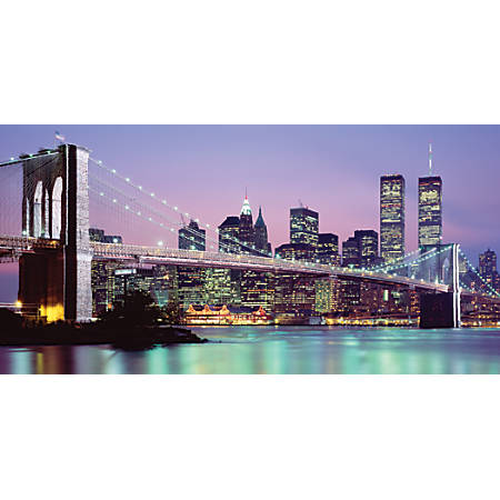 "Biggies Wall Mural, 27"" x 54"", New York Skyline"