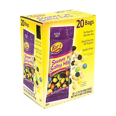 Kar's Sweet 'n Salty Trail Mix, 1.75 Oz, Box Of 20 Pouches