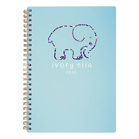 "Cambridge® Ivory Ella Tile Weekly/Monthly Planner, 5-1/2"" x 8-1/2"", Teal, January To December 2020, 1337-200-20"