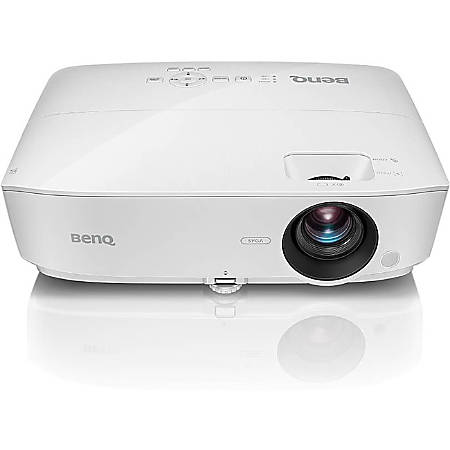 BenQ MH535A 3D Ready DLP Projector - 16:9 - White - 1920 x 1080 - Front, Ceiling - 1080p - 5000 Hour Normal Mode - 10000 Hour Economy Mode - Full HD - 15,000:1 - 3600 lm - HDMI - USB