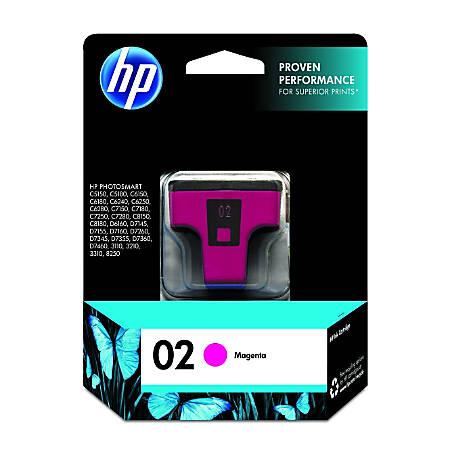 HP 02, Magenta Original Ink Cartridge (C8772WN)