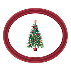 Amscan Oh Christmas Tree Oval Platters