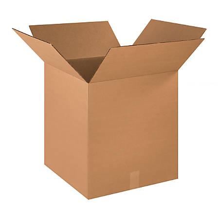 "Office Depot® Brand Corrugated Cartons, 18"" x 18"" x 20"", Kraft, Pack Of 15"