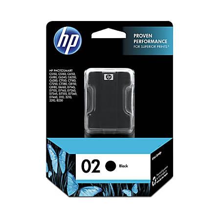 HP 02, Black Original Ink Cartridge (C8721WN)