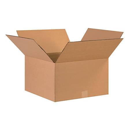 "Office Depot® Brand Corrugated Cartons, 17"" x 17"" x 10"", Kraft, Pack Of 25"