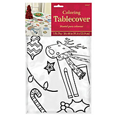 Amscan Christmas Coloring Paper Table Covers