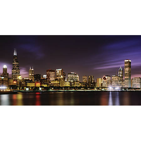"Biggies Wall Mural, 40"" x 80"", Chicago Skyline"