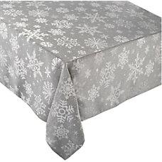 Amscan Christmas Snowflake Fabric Table Cover