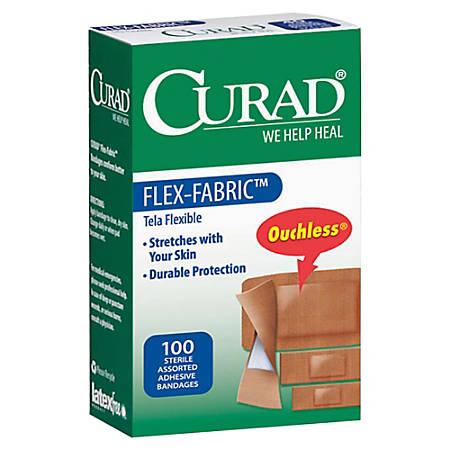 CURAD® Flex-Fabric Bandages, Assorted Sizes, Box Of 100
