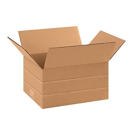 "Office Depot® Brand Multi-Depth Corrugated Cartons, 6"" x 11 1/4"" x 8 3/4"", Kraft, Pack Of 25"