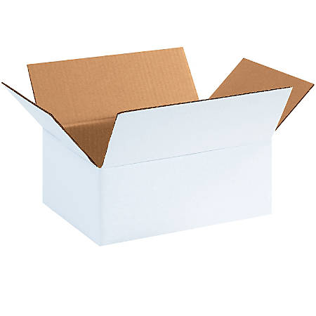 "Office Depot® Brand White Corrugated Cartons, 11 3/4"" x 8 3/4"" x 4 3/4"", Pack Of 25"