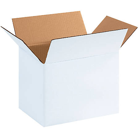 """Office Depot® Brand White Corrugated Cartons, 11 3/4"""" x 8 3/4"""" x 8 3/4"""", Pack Of 25"""