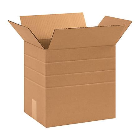 "Office Depot® Brand Multi-Depth Corrugated Cartons, 12"" x 12 1/4"" x 9 1/4"", Kraft, Pack Of 25"