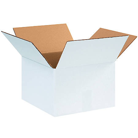 """Office Depot® Brand White Corrugated Cartons, 12"""" x 12"""" x 8"""", Pack Of 25"""
