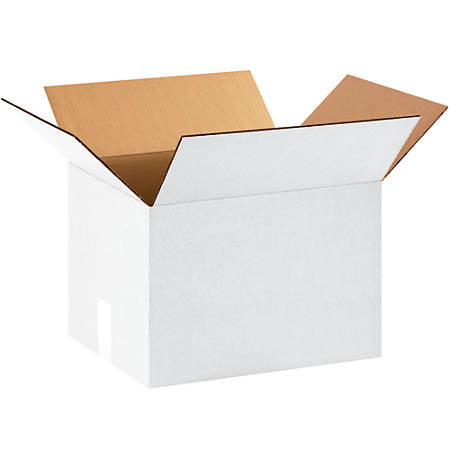 """Office Depot® Brand Corrugated Boxes, 12""""H x 12""""W x 16""""D, White, Bundle Of 25"""