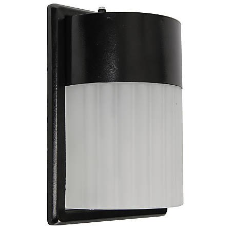 Luminance LED Exterior Wall Mount Fixture, 17 Watts, 4000K/Cool White, 1700 Lumen, Black/Frosted Lens