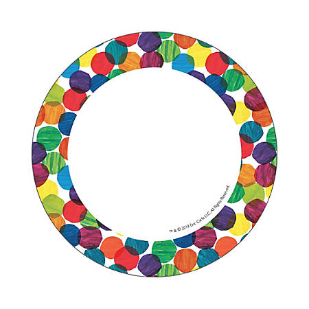 """Carson-Dellosa World Of Eric Carle Cut-Outs, 5"""" x 5"""", Multicolor, Pack Of 36 Cut-Outs"""