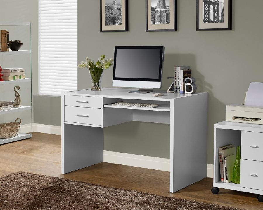 Monarch Specialties Computer Desk With Keyboard Tray White by Office