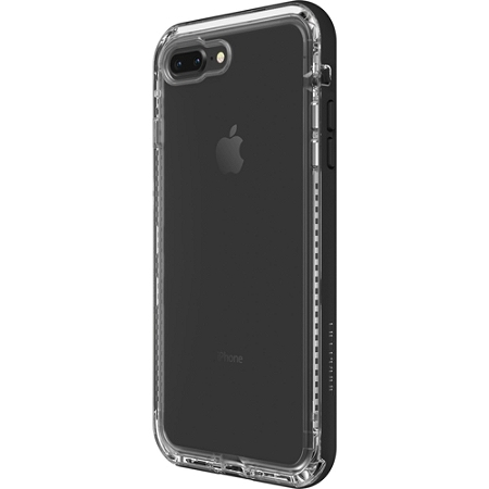 """LifeProof NËXT FOR iPhone 8 Plus and iPhone 7 Plus Case - For Apple iPhone 7 Plus, iPhone 8 Plus Smartphone - Black Crystal - Water Resistant, Snow Proof, Dust Resistant, Dirt Proof, Drop Proof, Clog Resistant - 79.20"""" Drop Height"""