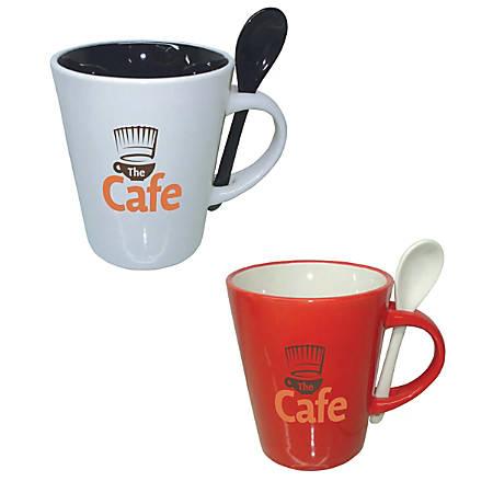 Ceramic Cocoa Spoon Mug, 12 Oz