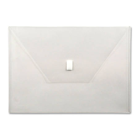 "Lion VELCRO®-Closure Poly Envelope, 13"" x 9 3/8"", Clear"