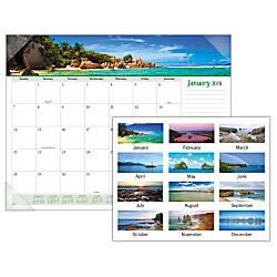 At A Glance Monthly Desk Pad Calendar 17 X 22 Seascape