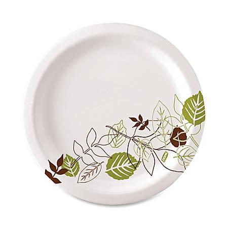 """Dixie® Paper Plates, 6 7/8"""" Diameter, Pathways Design, Pack Of 125"""