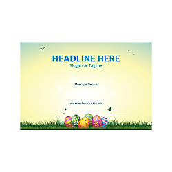 Plastic Sign Horizontal Easter Eggs