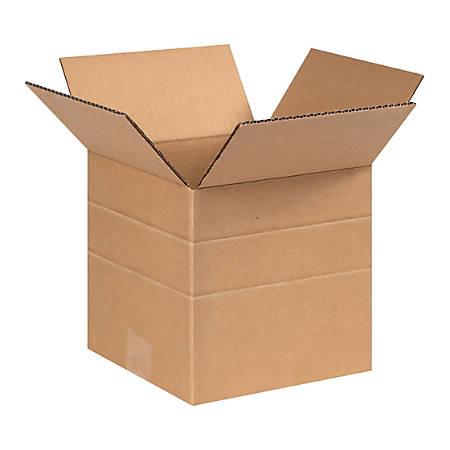 "Office Depot® Brand Multi-Depth Corrugated Cartons, 8"" x 8"" x 8"", Kraft, Pack Of 25"