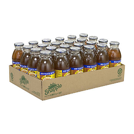 Snapple All-Natural Half 'n Half Lemonade Iced Tea, 16 Oz, Pack Of 24 Bottles